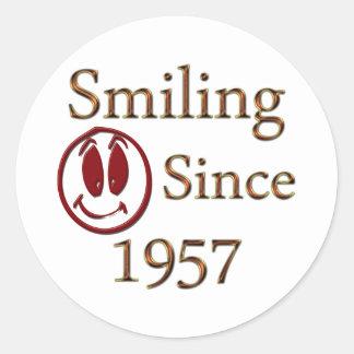 Born in 1957 classic round sticker