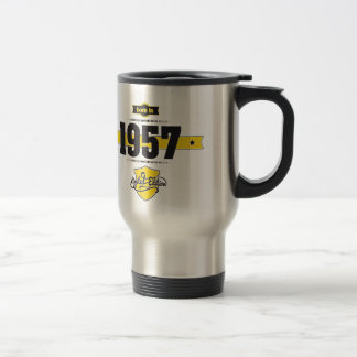 Born in 1957 travel mug