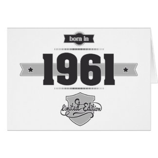 Born in 1961 (Dark&Lightgrey) Card