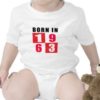 Born In 1963 Birthday Designs Baby Bodysuits