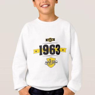 born in 1963 (choco&yellow) sweatshirt