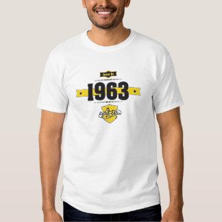 born in 1963 (choco&yellow) tees