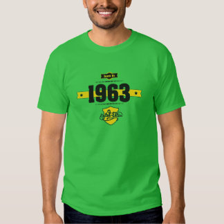 born in 1963 (choco&yellow) tshirts