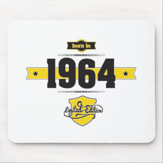 born in 1964 (choco&yellow) mouse pad