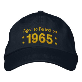 Born in 1965 AGED TO PERFECTION 50th Birthday V2F Embroidered Cap