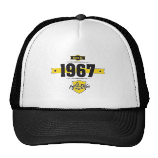 born in 1967 (choco&yellow) cap