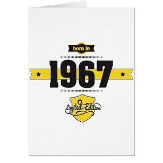born in 1967 (choco&yellow) card