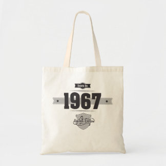 Born in 1967 (Dark&Lightgrey) Canvas Bags