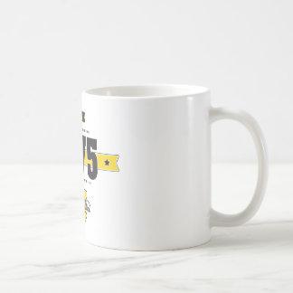 Born in 1975 basic white mug