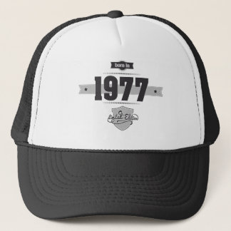 Born in 1977 (Dark&Lightgrey) Trucker Hat