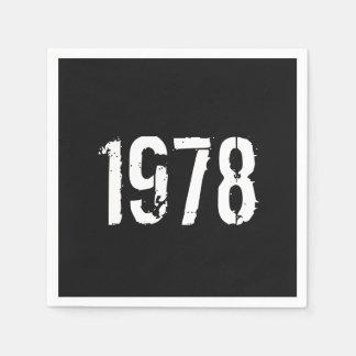 Born in 1978 40th Birthday Year Disposable Serviettes