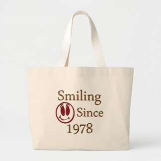 Born in 1978 large tote bag