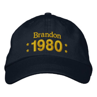 Born in 1980 or Any Year 35th Birthday W01F NAVY Embroidered Hat
