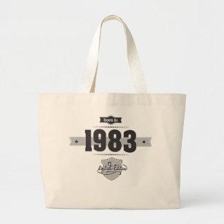 Born in 1983 (Dark&Lightgrey) Canvas Bags