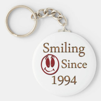 Born in 1994 basic round button key ring