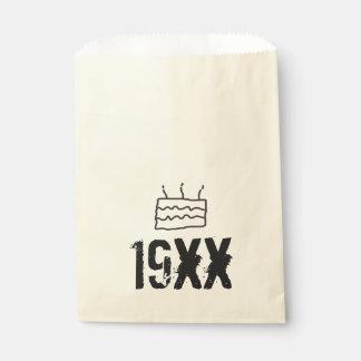 Born in 19xx Birthday Favour Bag