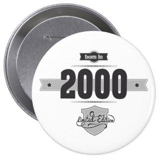 Born in 2000 (Dark&Lightgrey) 10 Cm Round Badge