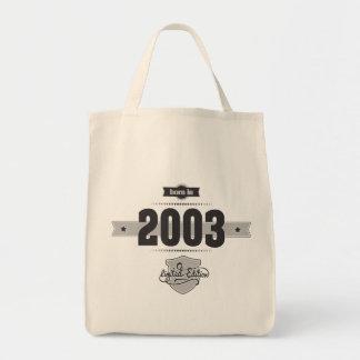 Born in 2003 (Dark&Lightgrey) Canvas Bags
