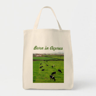 Born in Acores Grocery Tote Bag