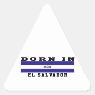 Born In El Salvador Triangle Sticker