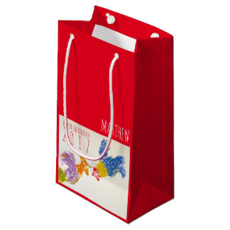 Born in Rooster Year Personalized Baby Gift Bag