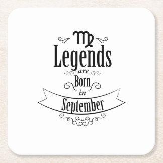 Born In September Virgo Zodiac Birthday Gift Square Paper Coaster