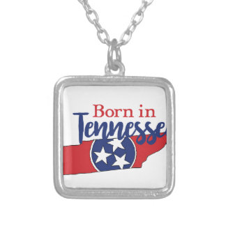 Born in Tennessee Silver Plated Necklace