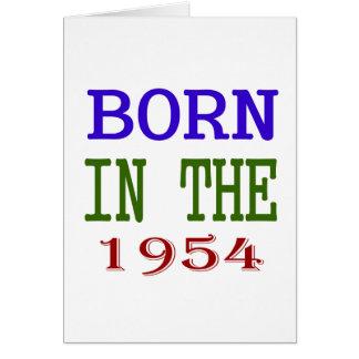 Born In The 1954 Card