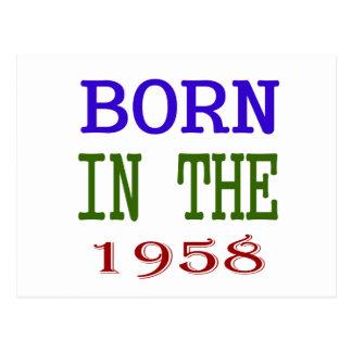 Born In The 1958 Postcard