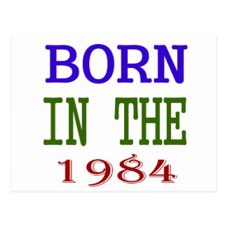 Born In The 1984 Postcard