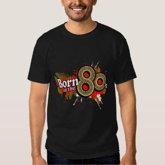 """""""Born in the 80's"""" mens multi-colour logo t black T-shirt"""