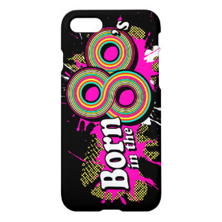 Born in the 80's pop pink iphone case