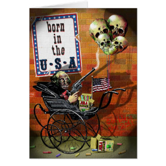 Born in the USA Greeting Card
