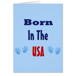 Born in the USA Hand prints Cards