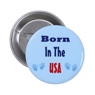 Born in the USA Hand prints Pin