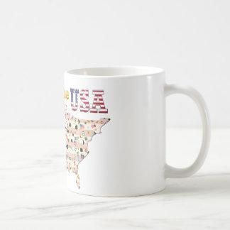 Born in the USA Basic White Mug