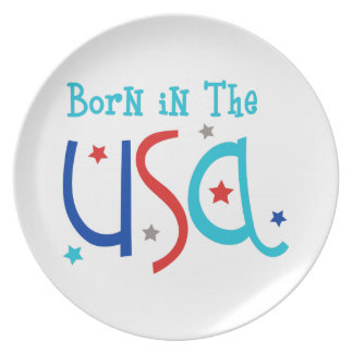 Born In The USA Party Plates