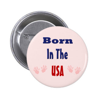 Born in The Usa Pink Button