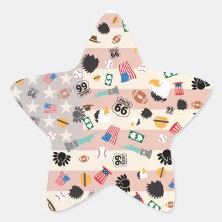 Born in the USA Star Sticker