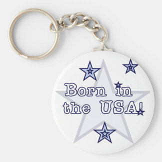 Born in the USA Tshirts and Gifts Keychain