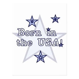 Born in the USA Tshirts and Gifts Postcard