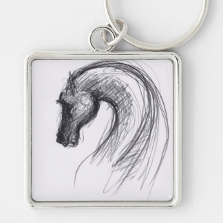 Born in the Year of the Horse Keychain