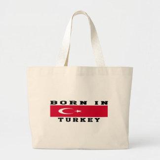 Born In Turkey Large Tote Bag