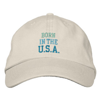 BORN IN USA cap Embroidered Baseball Cap