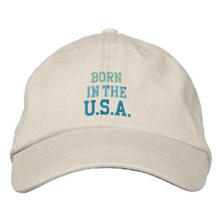BORN IN USA cap Embroidered Baseball Cap