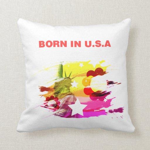 born in usa throw pillows