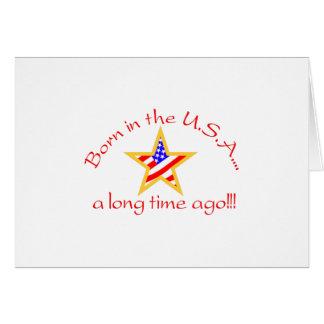 Born in USA Greeting Card