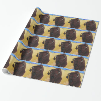 Born of Thunder Bison Buffalo Wrapping Paper