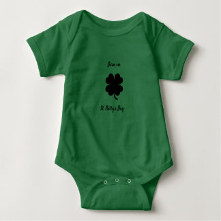 Born on St. Paddy's Day Baby Bodysuit