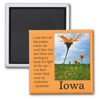 Born on the Prairie Square Magnet